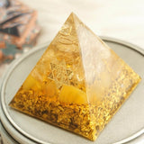 Citrine Orgonite Pyramid To Attract Wealth and Prosperity