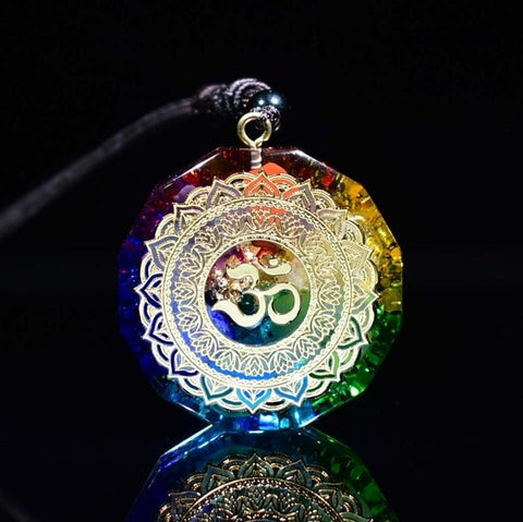Sri Yantra Orgonite Energy Pendant