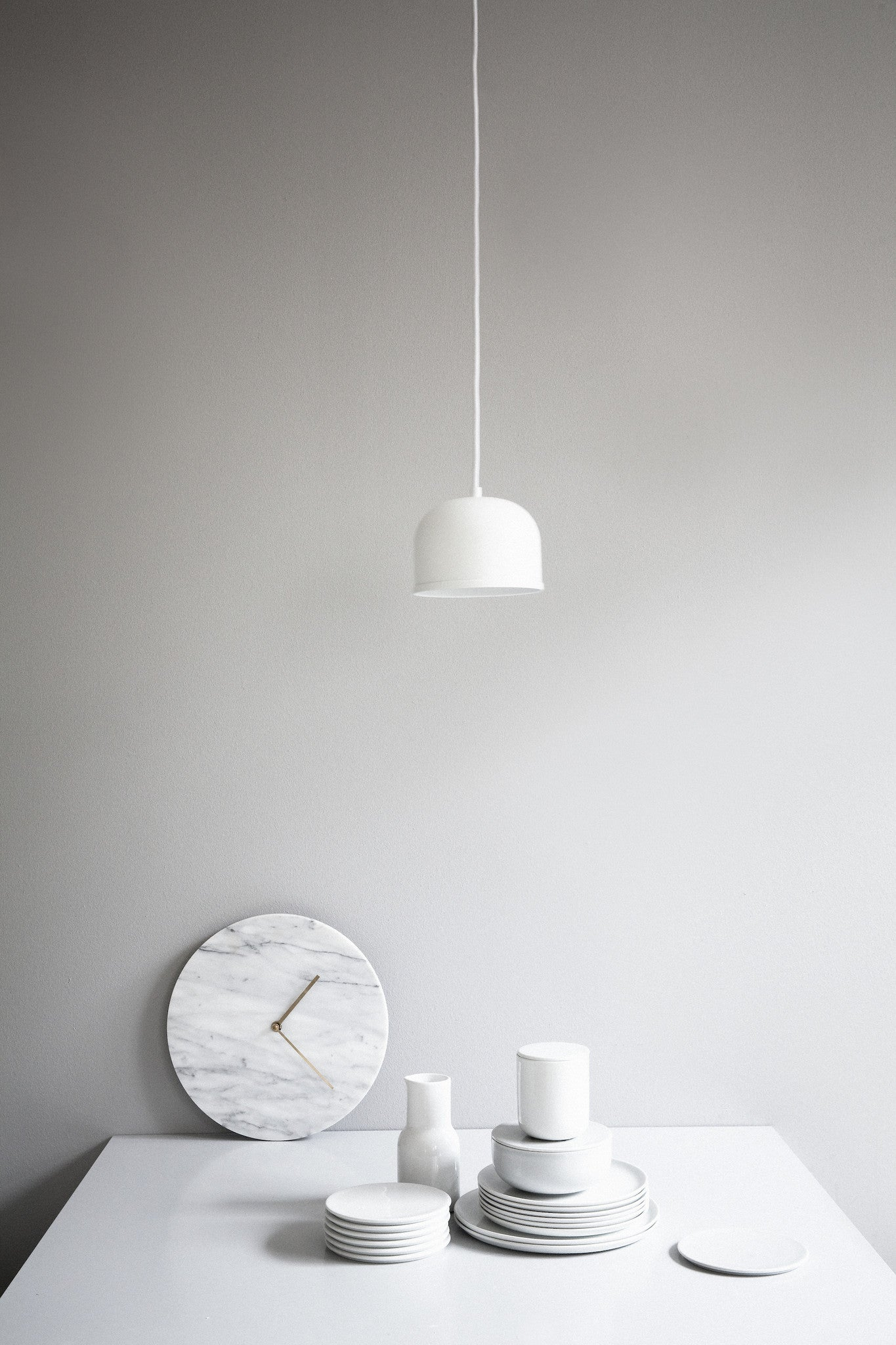 Marble Wall Clock - Menu