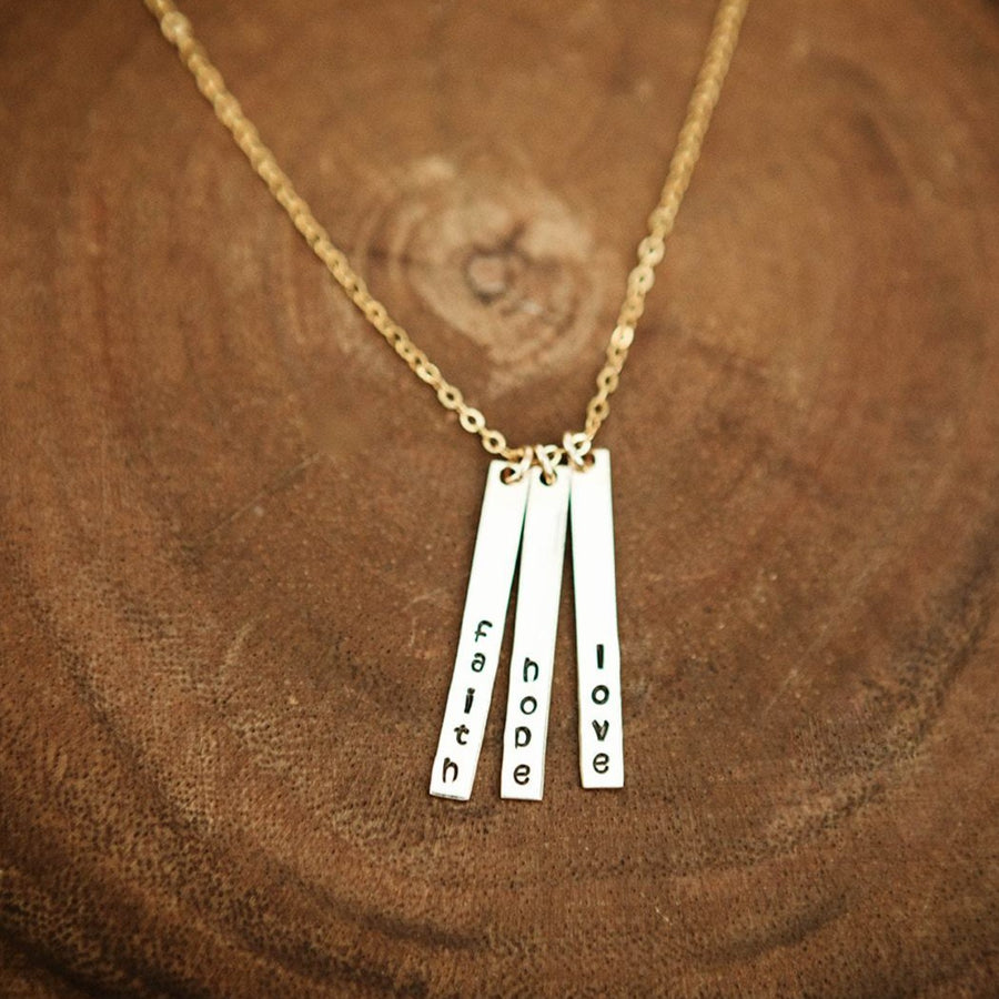 Gold Skinny Multi Bar Necklace