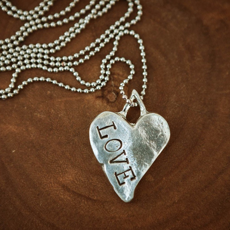 Bold Curved Heart Necklace