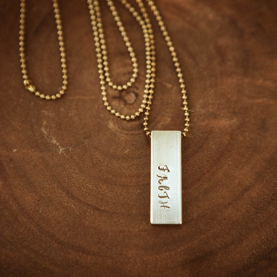 Brass Wide Necklace