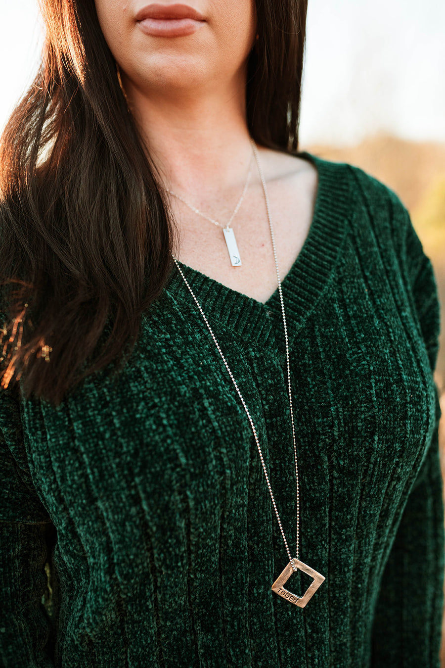 Bold Square Necklace