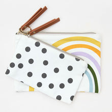 Load image into Gallery viewer, Caroline Gardner- Rainbow Spot Canvas Pouch Duo