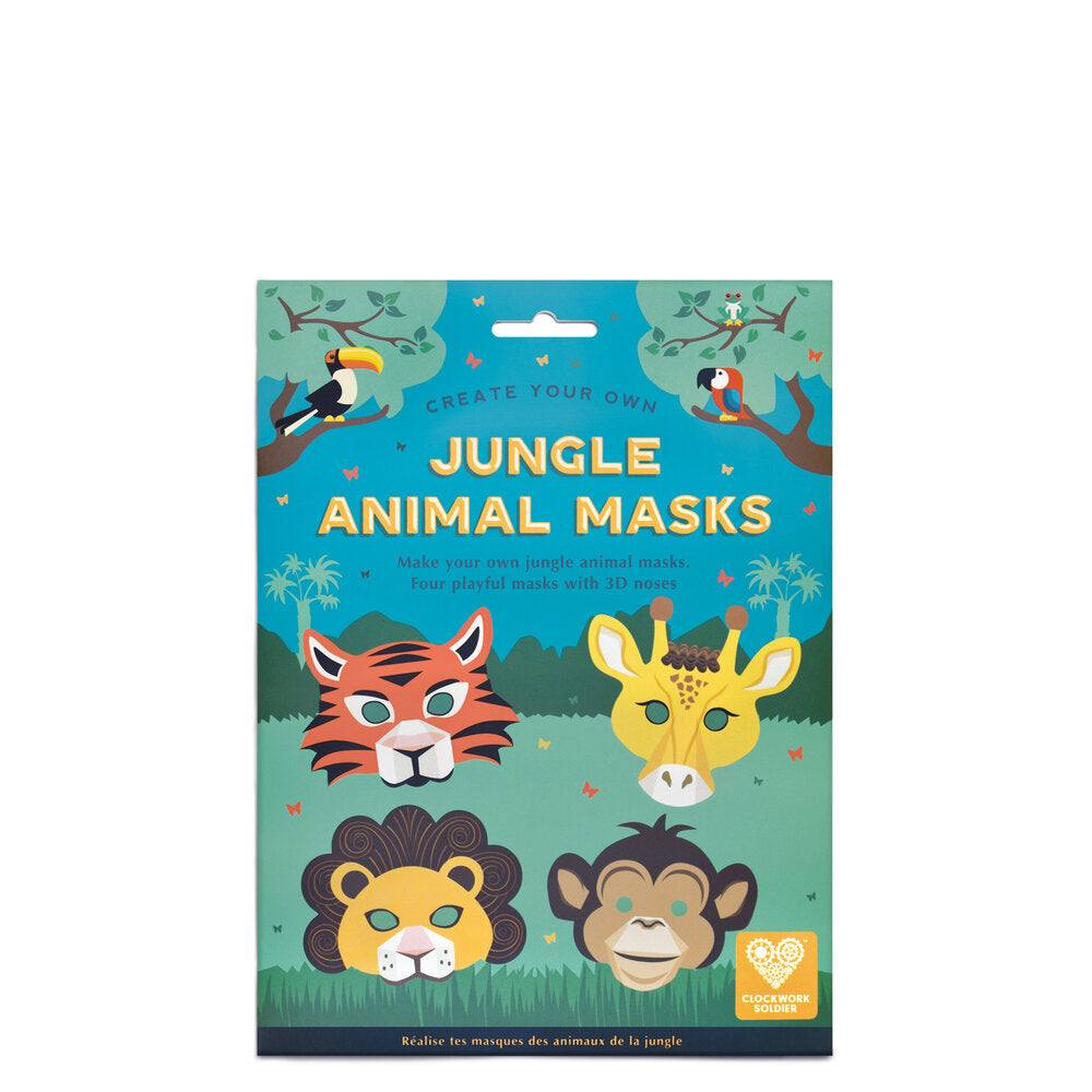 CREATE YOUR OWN JUNGLE ANIMAL MASKS - Clockwork Soldier