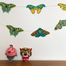 Load image into Gallery viewer, Moth Screen Printed Paper Garland - East End Press
