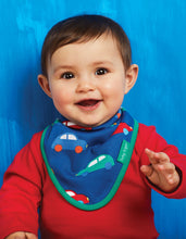 Load image into Gallery viewer, Organic Car Print Dribble Bib - Toby Tiger