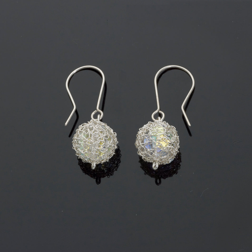 Silver Cristabel Short Earrings - just trade