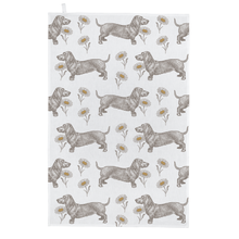Load image into Gallery viewer, Dog & Daisy Tea Towel - Thornback & Peel