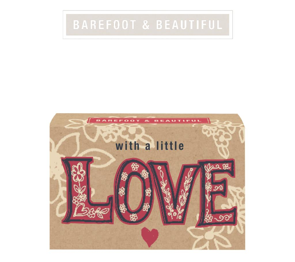 BAREFOOT LOVE BRITAIN / SOAP BAR / With a Little Love