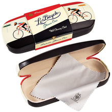Load image into Gallery viewer, Le Bicycle Glasses Case & Cleaning Cloth