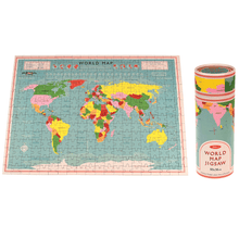 Load image into Gallery viewer, World Map 300 Piece Puzzle In A Tube