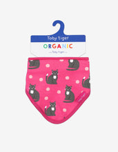 Load image into Gallery viewer, Organic Kitten Print Dribble Bib - Toby Tiger