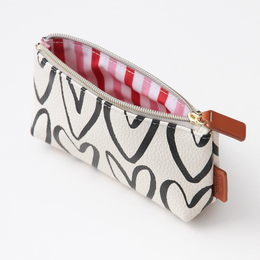 Hearts Small Cosmetic Bag - Caroline Gardner