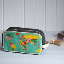 Load image into Gallery viewer, World Map Washbag