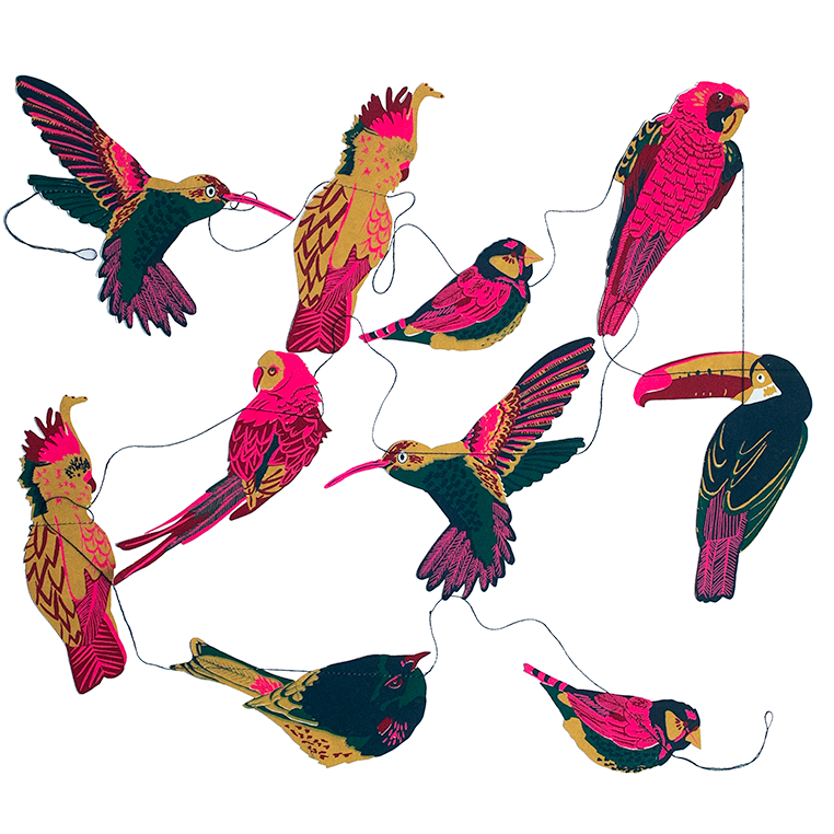 Tropical Birds Garland - East End Press