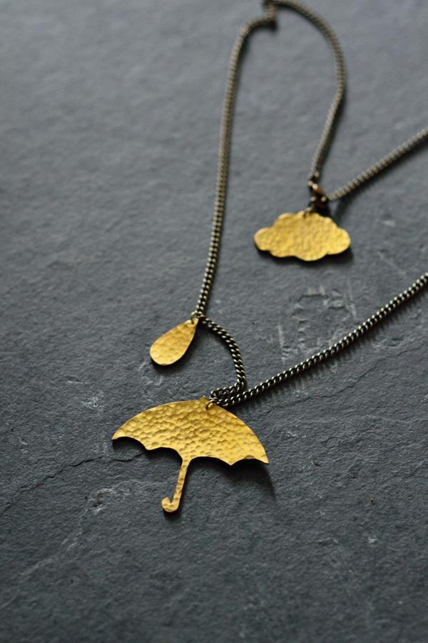 Just Trade Umbrella and Cloud Necklace