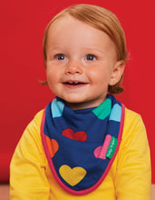 Load image into Gallery viewer, Organic Cotton Multi Heart Print Dribble Bib - Toby Tiger