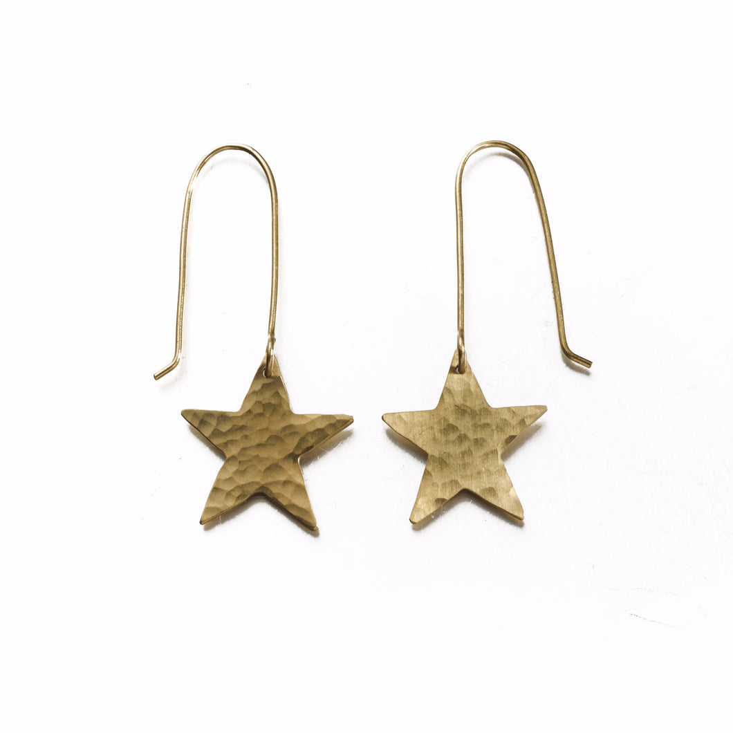 Plated Star Earrings - Just Trade