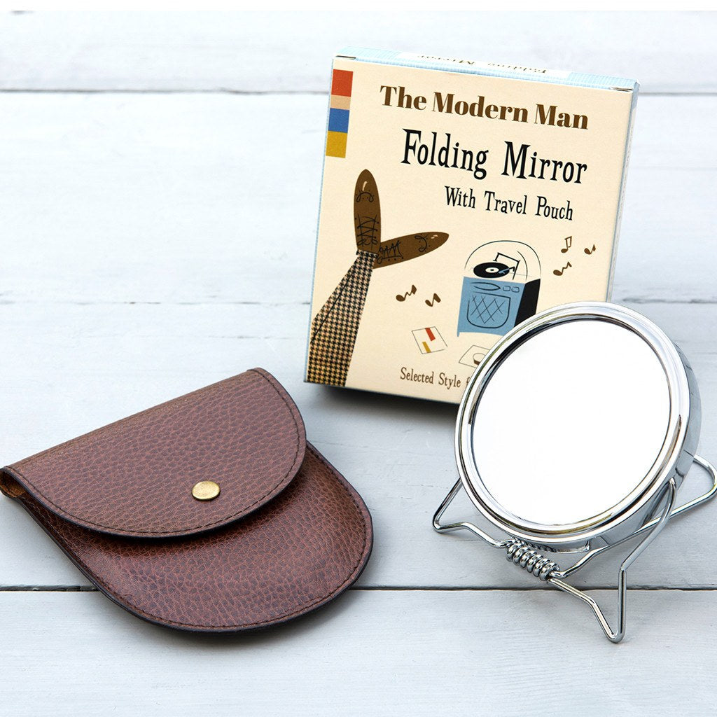 Modern Man Travel Shaving Mirror