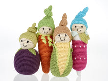 Load image into Gallery viewer, FAIR TRADE COTTON CROCHET FRIENDLY BABY SWEETCORN BABY RATTLE