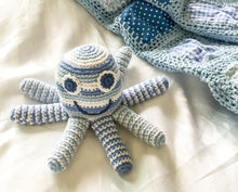 Load image into Gallery viewer, Pebble - Blue Octopus Baby Rattle