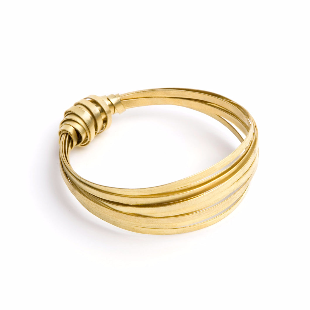 Brass Ribbon Bangle  - Just Trade