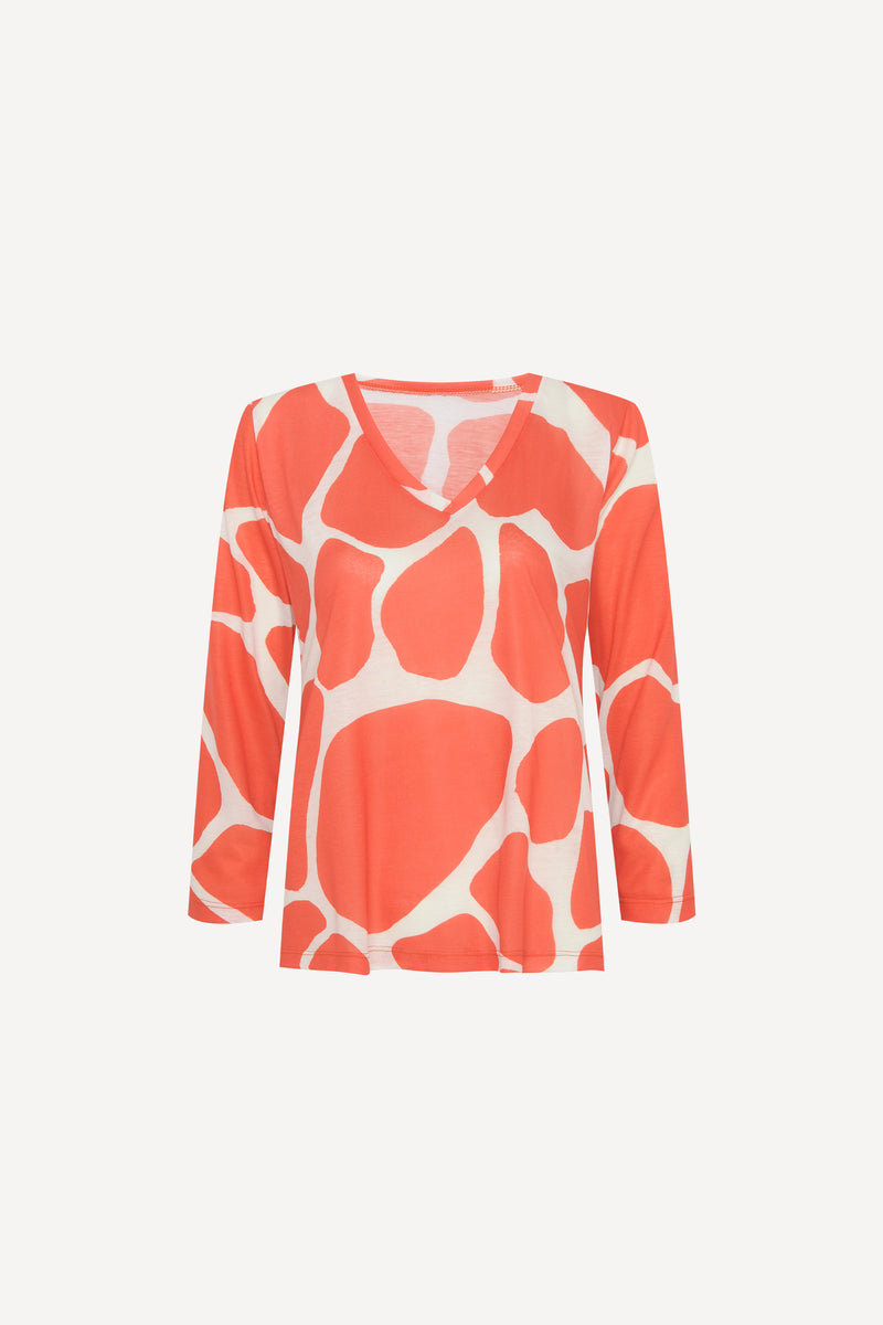 TEE GIRAFE ORANGE (6018073886885)