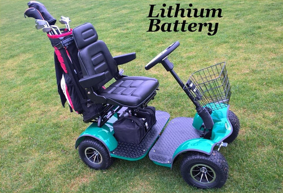 GF04 Electric Golf Cart with Steering wheel - Lithium Batteries