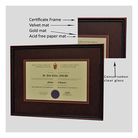 Diploma and Certificate Framing