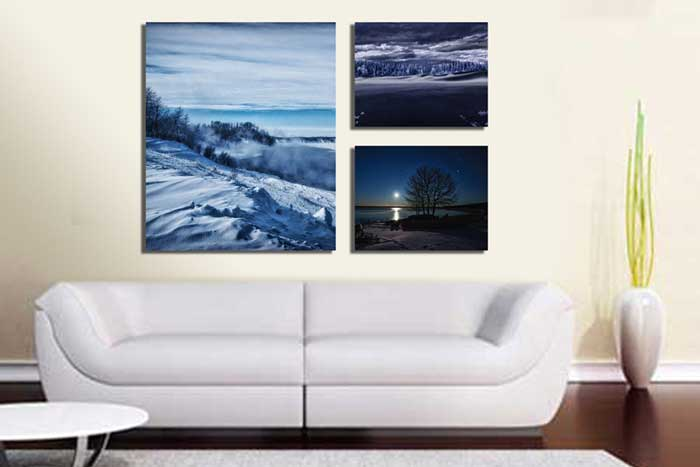 Canvas Cluster Prints From 3 Photos - Germotte