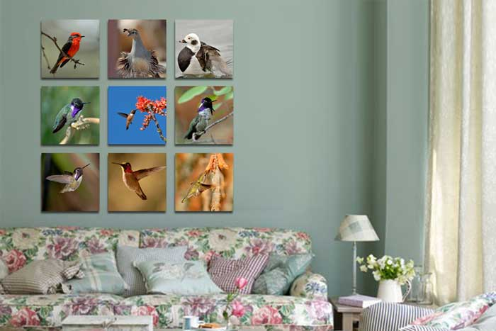 Canvas Cluster Prints From 9 Photos - Germotte