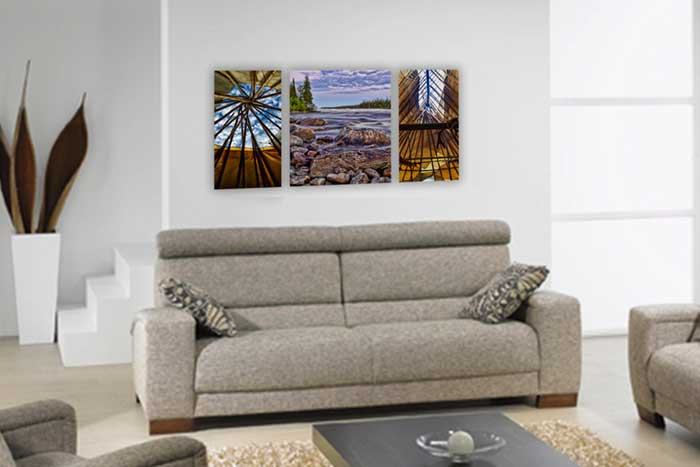 Canvas Cluster Printing From 3 Photos - Germotte