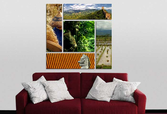 Canvas Cluster Printing From 5 Photos - Germotte