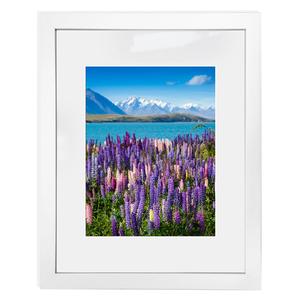 White ready made frame with matting