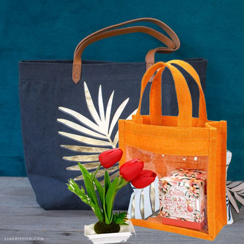 Handicraft Jute Handbag + Festive Bag Combo Offer - Krishna Jute Bag Co.