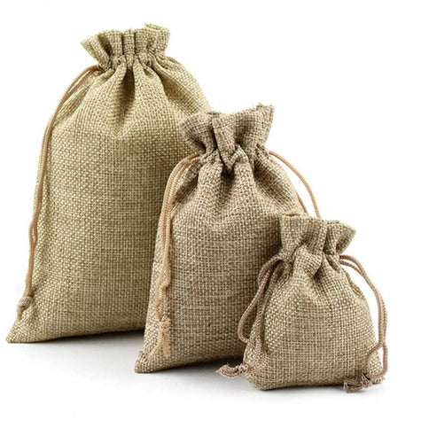 Handicrafted Jute Potli (Set of 10) - Krishna Jute Bag Co.
