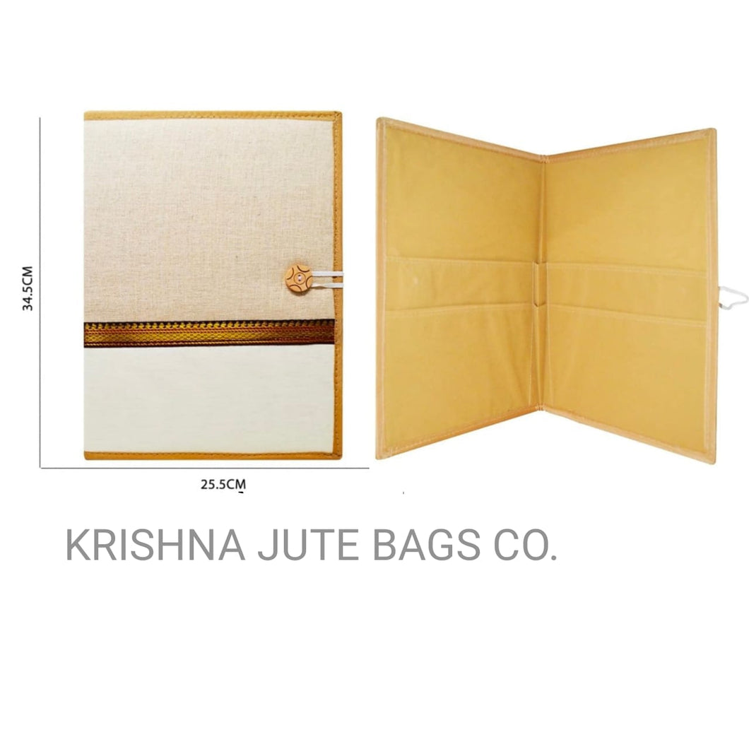 Jute Traditional Style Folder