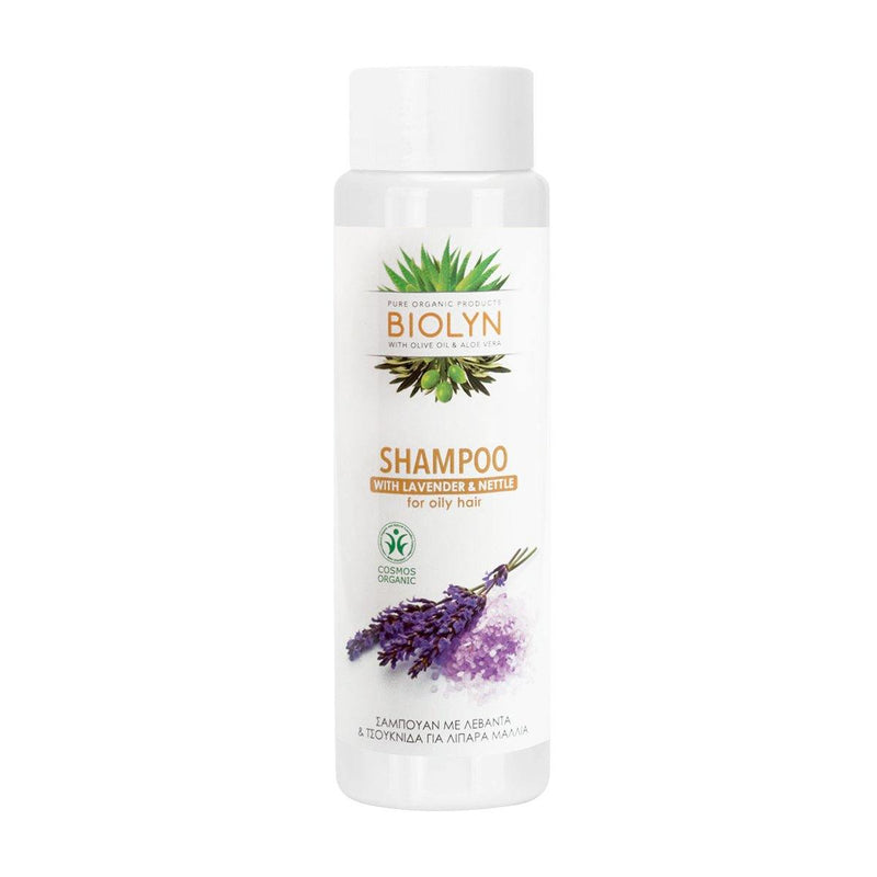 <transcy>Biolyn- Organic shampoo for oily hair, with lavender and nettle 99.2% natural ingredients 250ml</transcy>