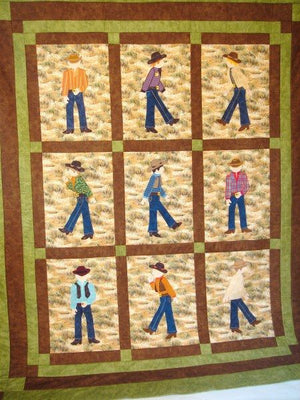 Jamie Plays Cowboys Quilt Kit1