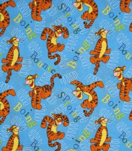 Fat Quarter Frenzy Children Winnie the Pooh Tigger Fabric