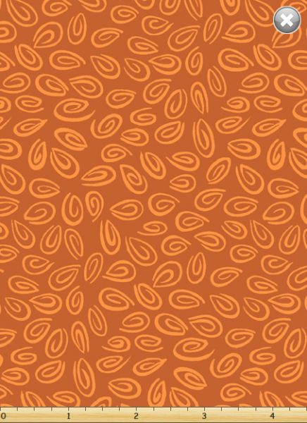 Fat Quarter Frenzy SusyBee Blender Leaves Burnt Orange
