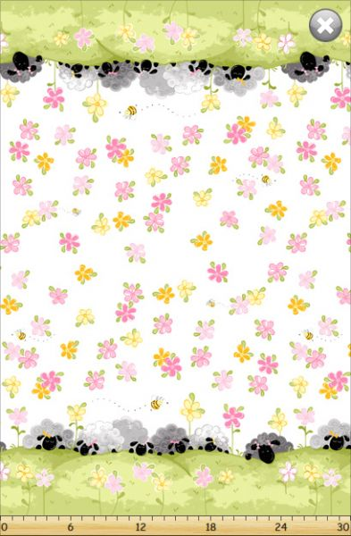 Fat Quarter Frenzy SusyBee Lal the Lamb Mama Lal Border