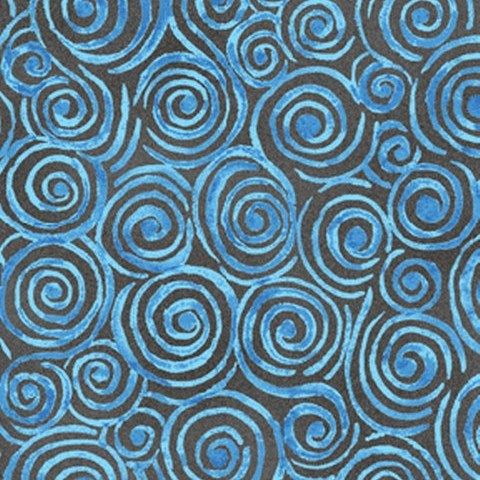 Fat Quarter Frenzy Other Swirls Blue