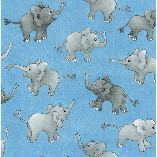Fat Quarter Frenzy Children Nutex Elephants Tossed