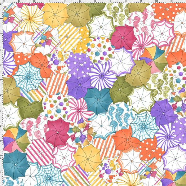 Fat Quarter Frenzy Loralie Lazy Beach Beach Umbrellas