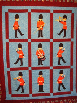 Jamie Plays Soldiers quilt Pattern1