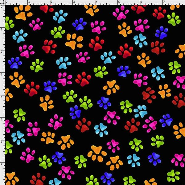 Fat Quarter Frenzy Loralie Cool Cats Paws