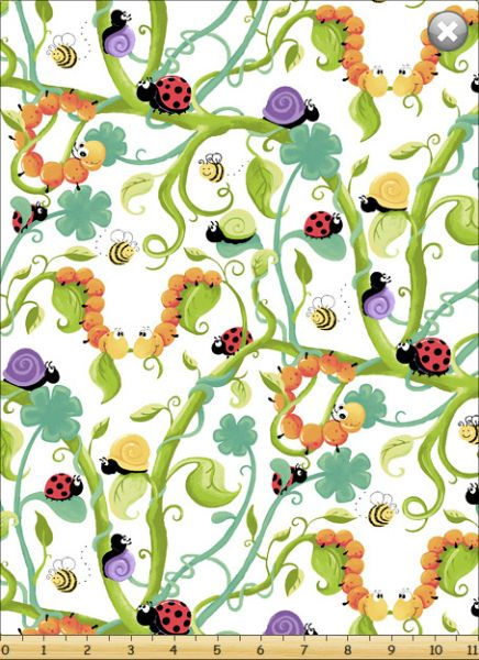 Fat Quarter Frenzy SusyBee Leif the Caterpillar Tossed