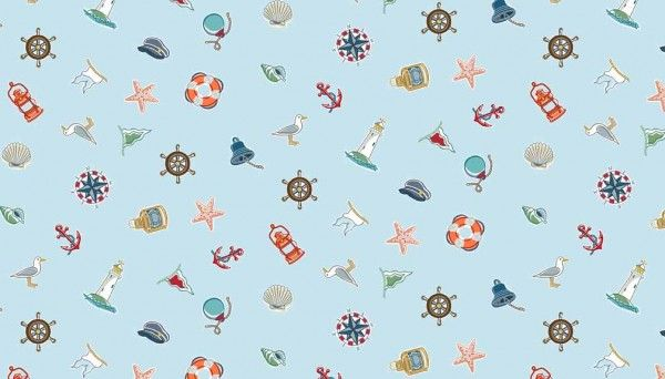 Fat Quarter Frenzy Seaside Makower Marina Accessories